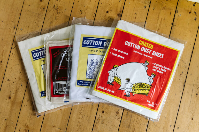 Coated Dust Sheets Premium Quality Norden Dust Covers