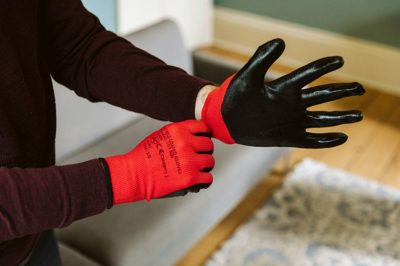 Norden Dust Covers Nitrile Soft Touch Builders Gloves