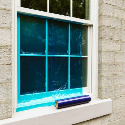 Buy Blue or Clear Window Glass Protection Film Online From Norden Dust Covers