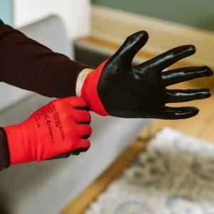 Buy Nitrile Soft Touch Builders Gloves From Norden Dust Covers Online